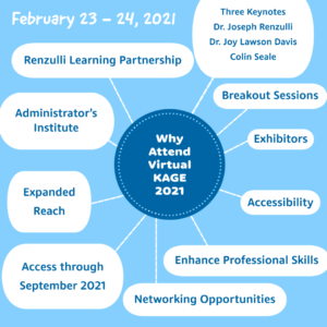Why attend Virtual KAGE 2021 Annual Conference?