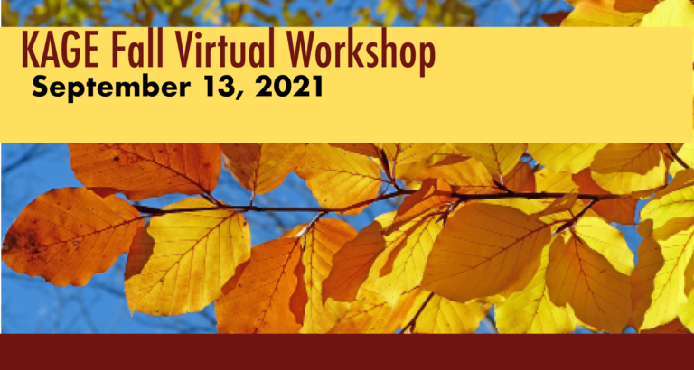 Kentucky Association for Gifted Education 2021 Fall Workshop - Dr. Kristina Collins